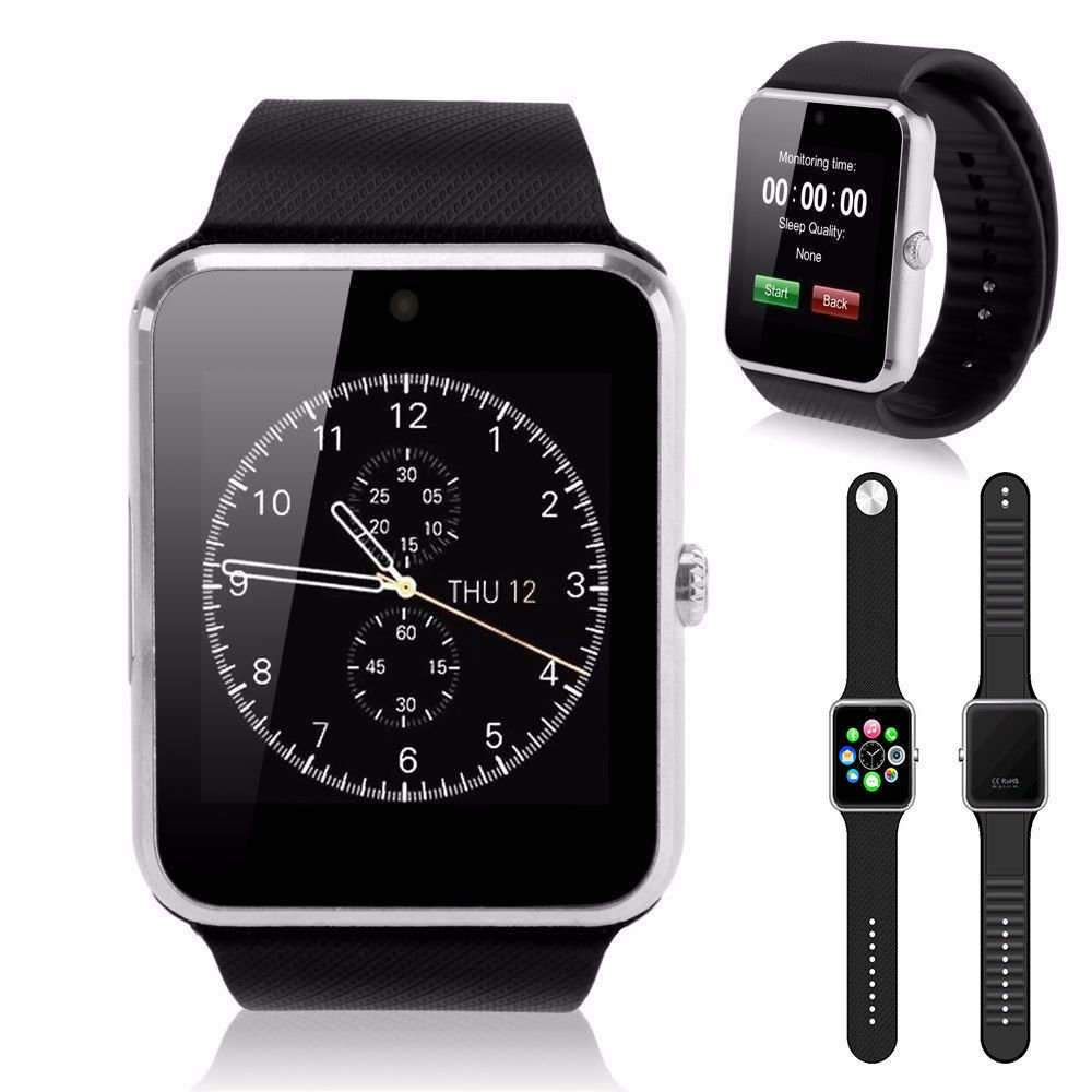 Amazon.com: Lingstar GT08 Bluetooth Smart Watch NFC Wrist Phone Mate For iPhone Andorid Black: Cell Phones & Accessories