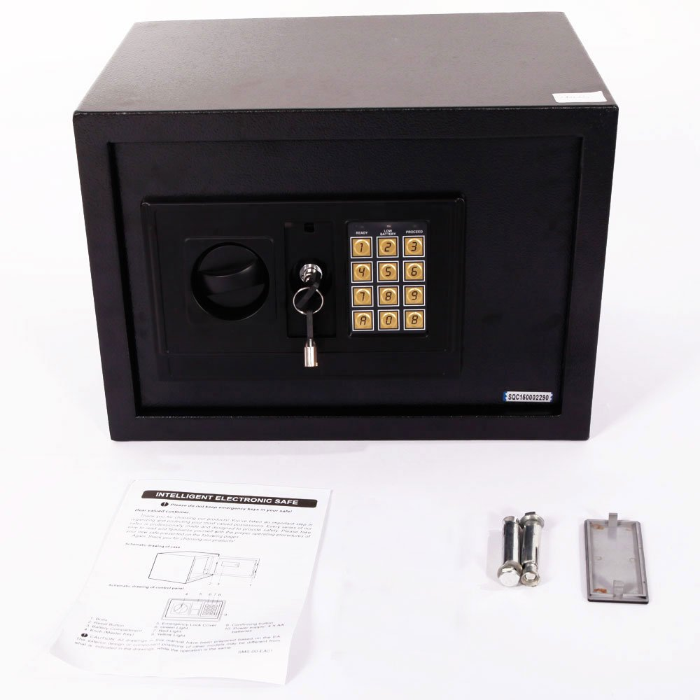 Mefeir 0.77 CF Electronic Digital Security Safe Box Keypad Lock, Home Office Hotel Business Jewelry Gun Cash Use Mini Cabinet Storage,Solid Steel Constuction