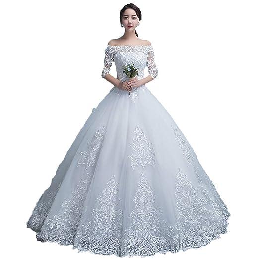 Vestidos de novia Mujeres fuera del hombro floral de encaje ...