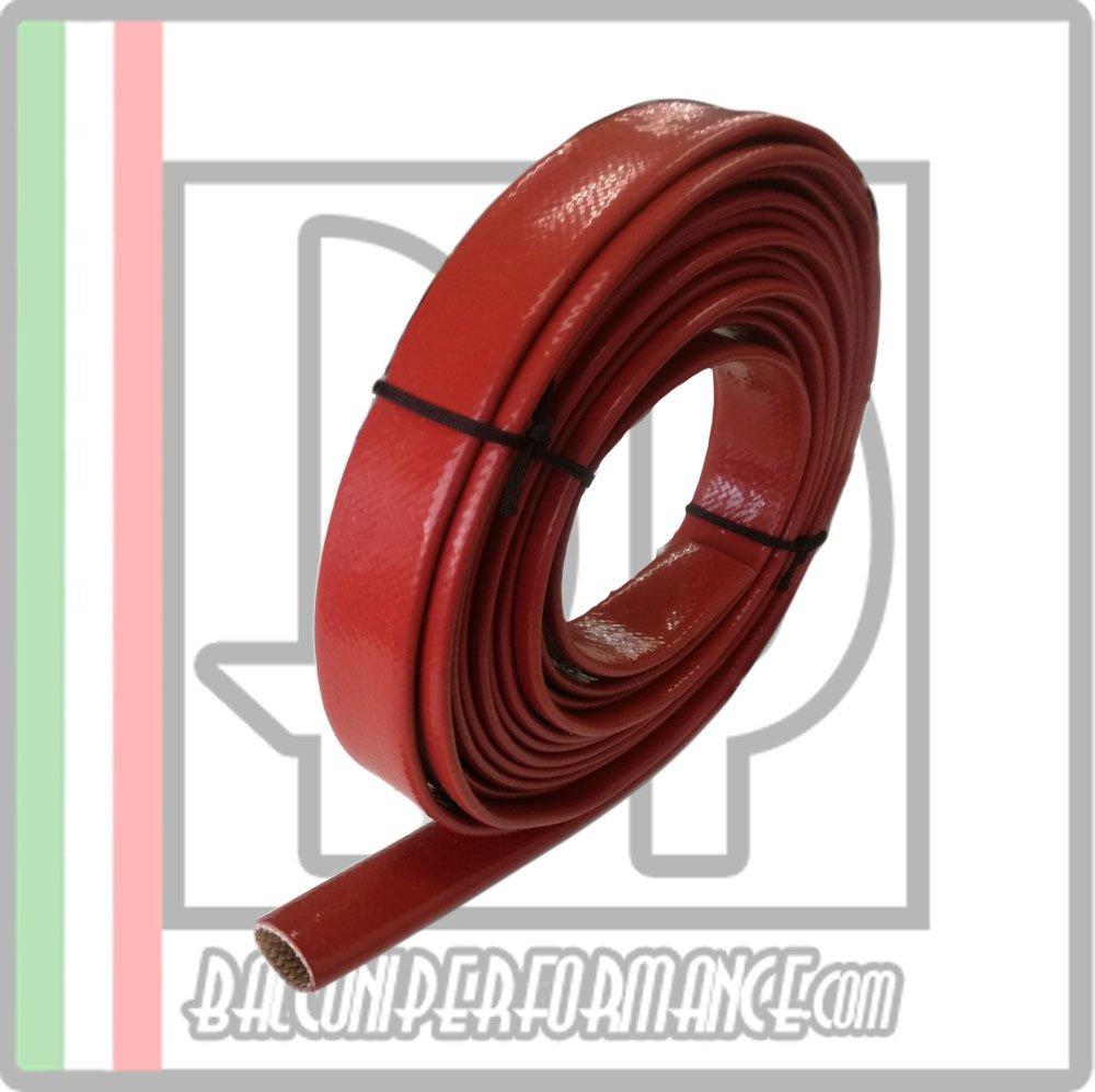 diametro disponibile da 1 mm a 25 mm Colore ROSSO ID 7 mm venduto al metro Guaina protezione tubi vano motore Auto Resistenza calore raggi UV olio benzina
