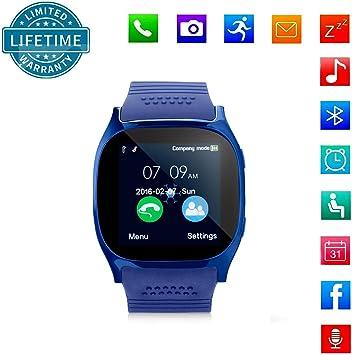 KeepGoo Bluetooth Reloj Inteligente Android iOS Teléfono, Pantalla ...