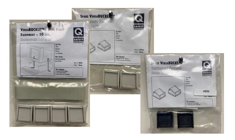 VersaBUCKLE Long Straps for Equipment Fastening with 2 Free Bonus Packs of Buckles