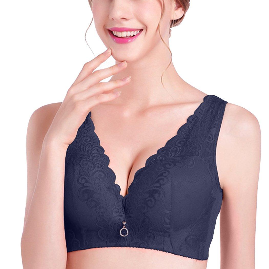 e29570ff4f Amazon.com  YISUMEI Women s Bra Wirefree Thin Lace Plus Size Fixed Strap   Clothing