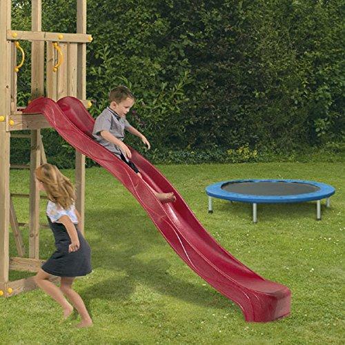 Toys4Kids Anbau - Rutsche ca. 2,30 m aus witterungsbeständigem Kunststoff, Rot