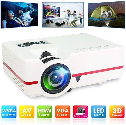 Proyector, 1500 lúmenes LED LCD HD Inicio infrarrojo Micro ...