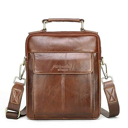 98ef8ac1dd6b Amazon.com: RXF First Layer Cowhide Men's Messenger Bag Shoulder Bag ...