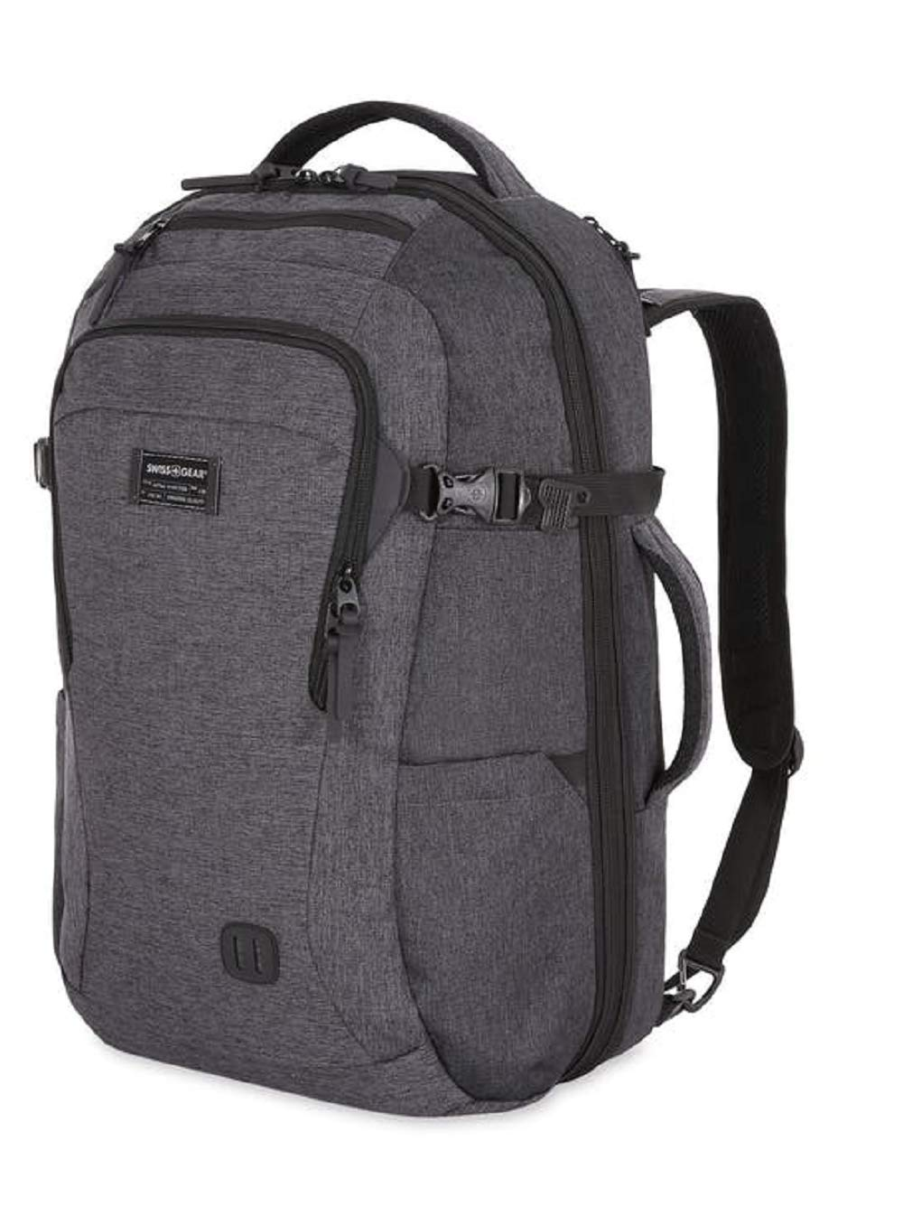 SWISSGEAR 6067 Getaway 2.0 Big Expandable Men's and Women's Ultra Spacious Laptop Backpack - Heather by Swiss Gear