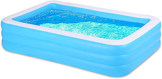 FIVKLEMNZ Inflatable Swimming Pool, Thickened Abrasion Resistant Full-Sized Swimming Pool, Family Interaction Summer Water Party Swimming Pool, for Kids or Adults, for Garden, Backyard, Outdoor