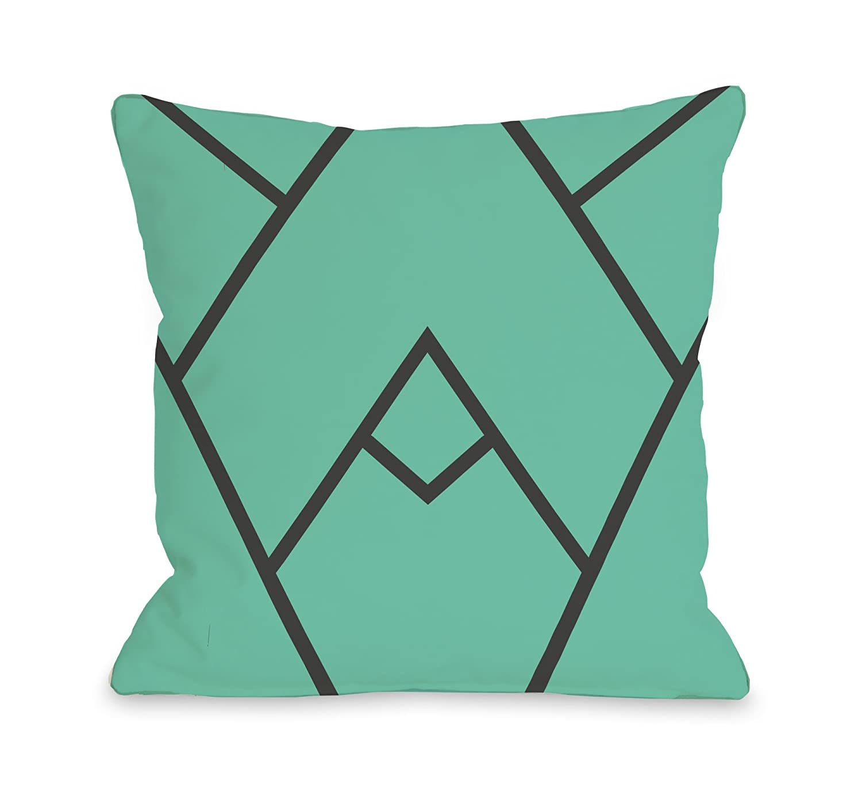 One Bella Casa Mountain Peaks Throw Pillow by OBC Black//White 14x 20