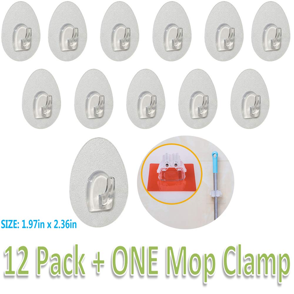 PASNOWFU 22lb//10kg Heavy Duty Scratch Hooks Waterproof and Oilproof for Kitchen Bathroom Bedroom Refrigerator Door Wall 8 Packs Reusable Heavy Duty Adhesive Wall Hooks with No Scratch Max