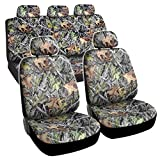 camouflage seat cover for cars - Hawg Camo Seat Covers Maple Forest Pattern Camouflage for Auto Truck Car SUV