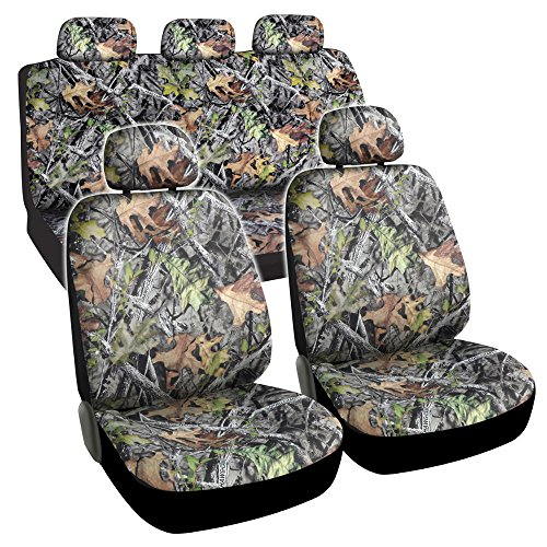 BDK Camo Car Seat Covers - Full 9 Piece Set - Waterproof Protection for Car Truck SUV Van - Camouflage...