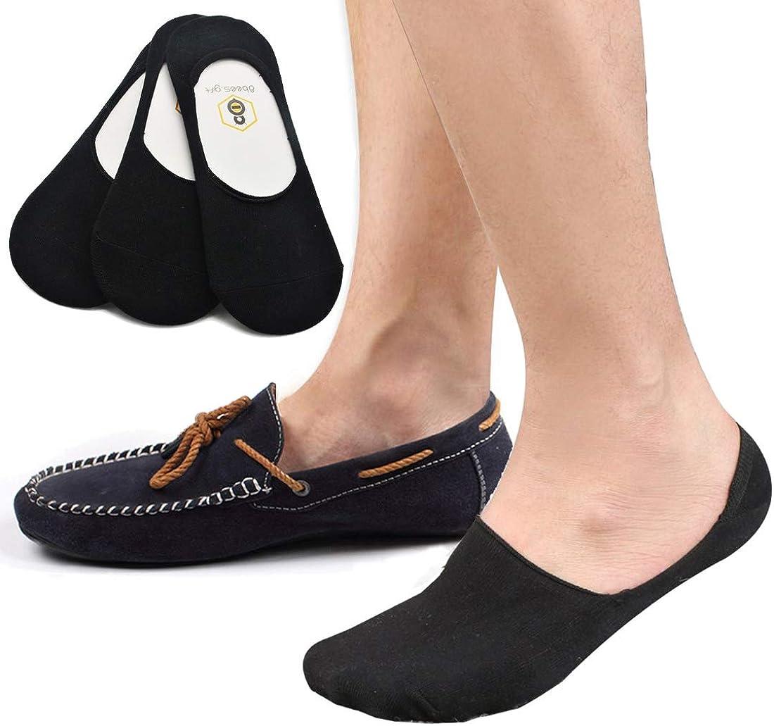 Men No Show Socks Non Slip Grip 8BESS
