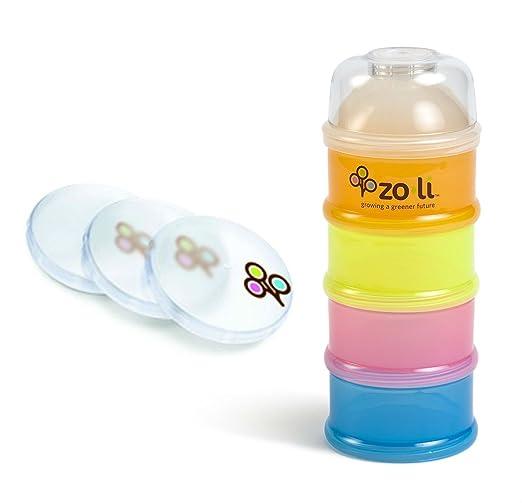 "Zoli ""On-the-Go"" Baby Bundle - 1 Formula & Snack Dispenser + 3 Lids"