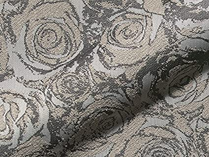 Tela de tapicería Ariane Flores Color Gris como Robusto ...