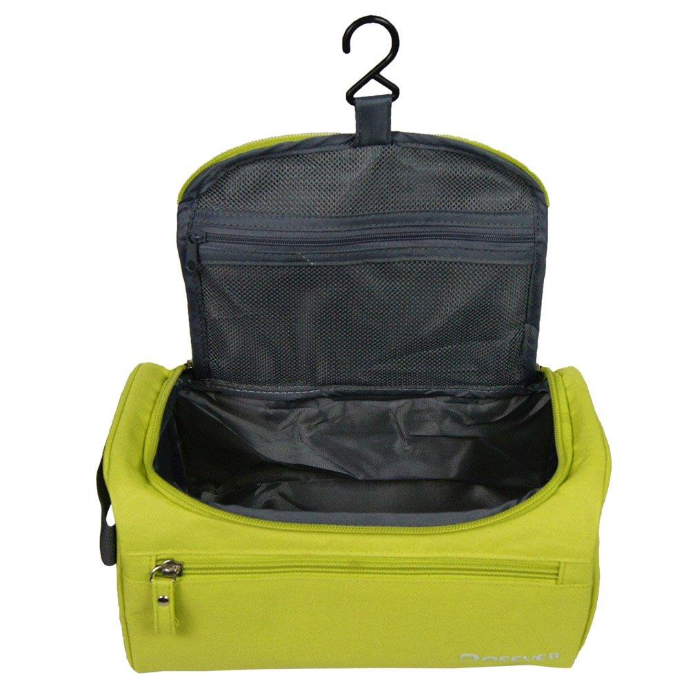 Portable Waterproof Hanging Toiletry Bag Travel Kit Organizer Cosmetic Bag for Men and Women Perfect For Grooming Shaving Dopp Kit (Black)