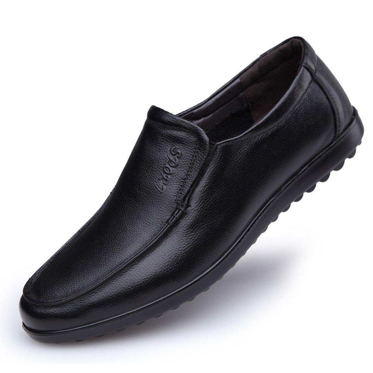 Männer Alters Männer Freizeitschuhe Leder Weichen Boden Schuhe Mittleren Alters Männer Papa Schuhe Baumwollschuhe schwarz ee00d1