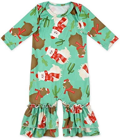 Exquisite Baby Rompers Clothes Long Sleeve Heart Elk Pattern Jumpsuit Outfit