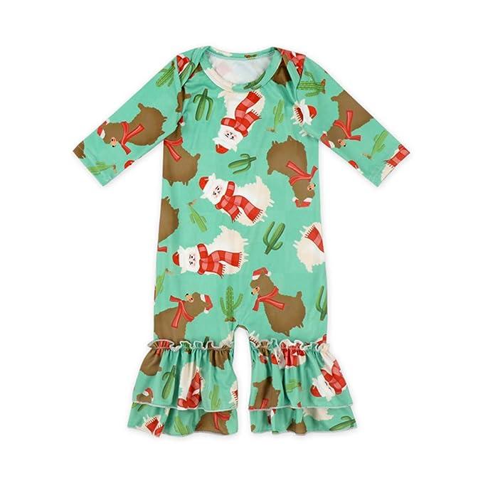 1cc89daa541 Amazon.com  Anbaby Baby Girls Floral Ruffles Romper Long Sleeve ...