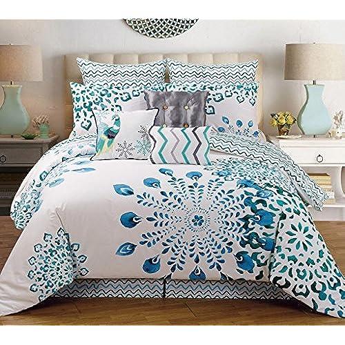 9 Piece Queen Polona Cotton Comforter Set