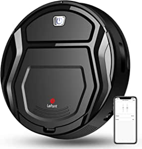 LEFANT Robot Aspirador 1800Pa con Robot Aspirador de 500 ml, con tecnología Sensor de colisión 6D Mejorado,Ideal para Pelo de Animales, alfombras y Suelos Duros,WiFi/Alexa/App,Negro,M201