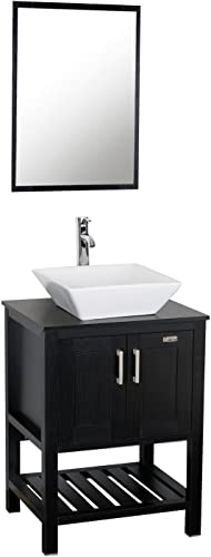 Eclife 24 inch Modern Bathroom Vanity Units Cabinet and Sink Stand Pedestal