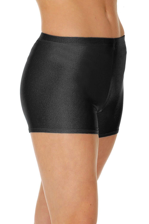 Roch Valley Micro Shorts Hotpants Nylon Lycra Black Dance Gym Freestyle Fitness