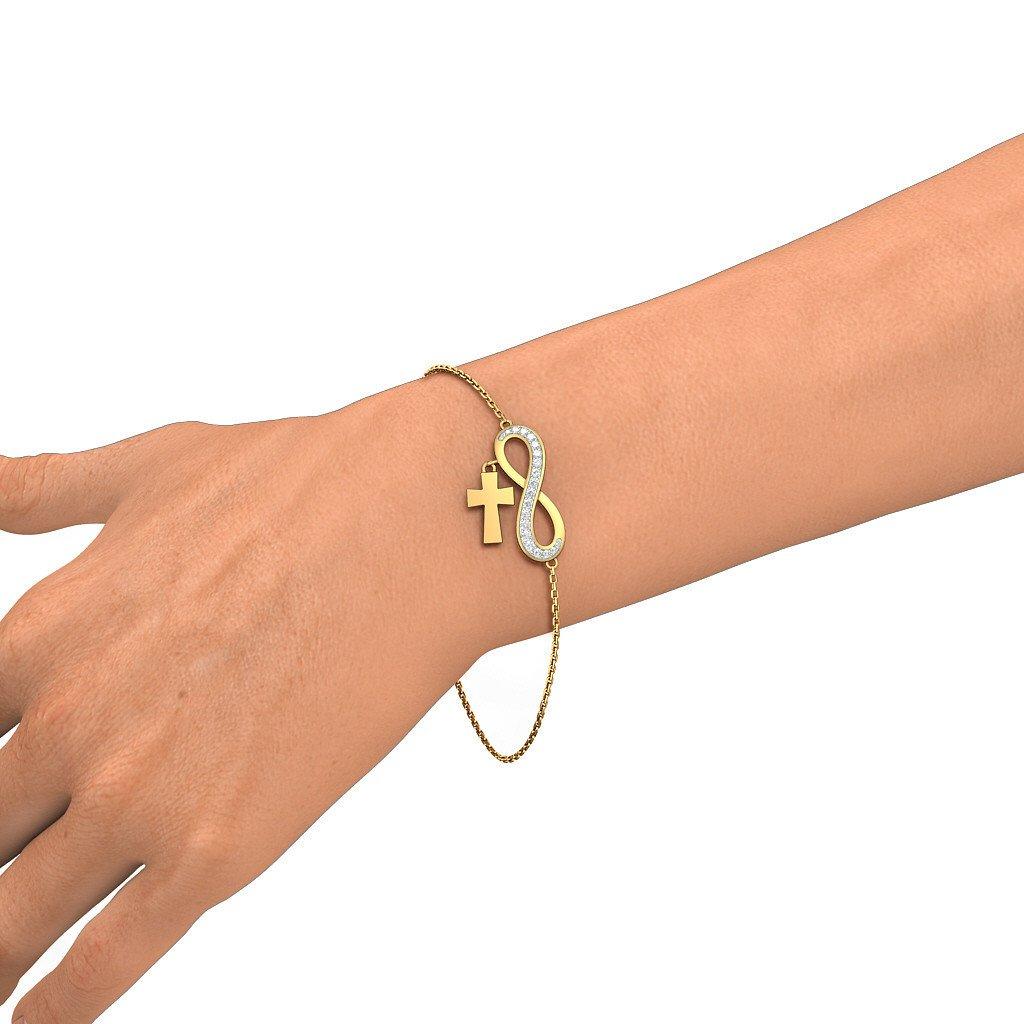 0.244 cttw Round-Cut-Diamond 18K Yellow Gold identification-bracelets Size IJ| SI 8.25 inches