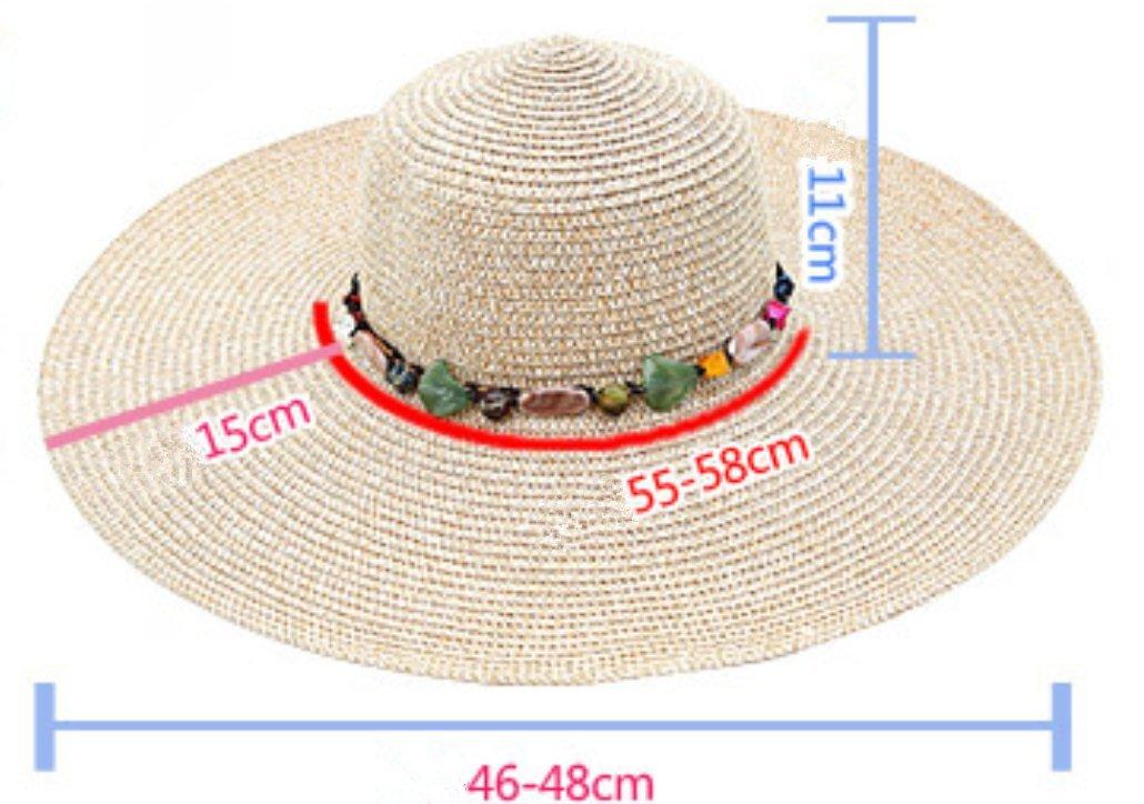 Hosaire M/ütze Kappe Mode Outdoors Strand Sonnenhut Sommerhut Eave Strohhut Faltbarer Sonnenschutz Cap f/ür Damen M/ädchen