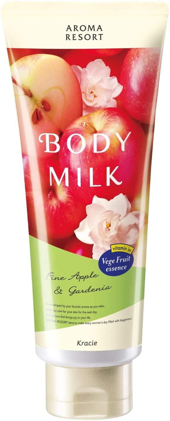 (Kracie Home Products) Aroma Resort Body Milk Fine Apple & Gardenia 200g (2 bargain set)