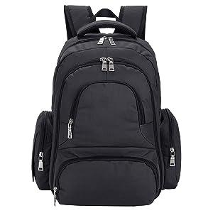 Upgraded Version Baby Diaper Bag Smart Organizer Waterproof Travel Diaper Backpack