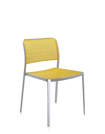 Lovely Kartell Audrey Chair   Armless, Aluminum, Painted Aluminum Yellow