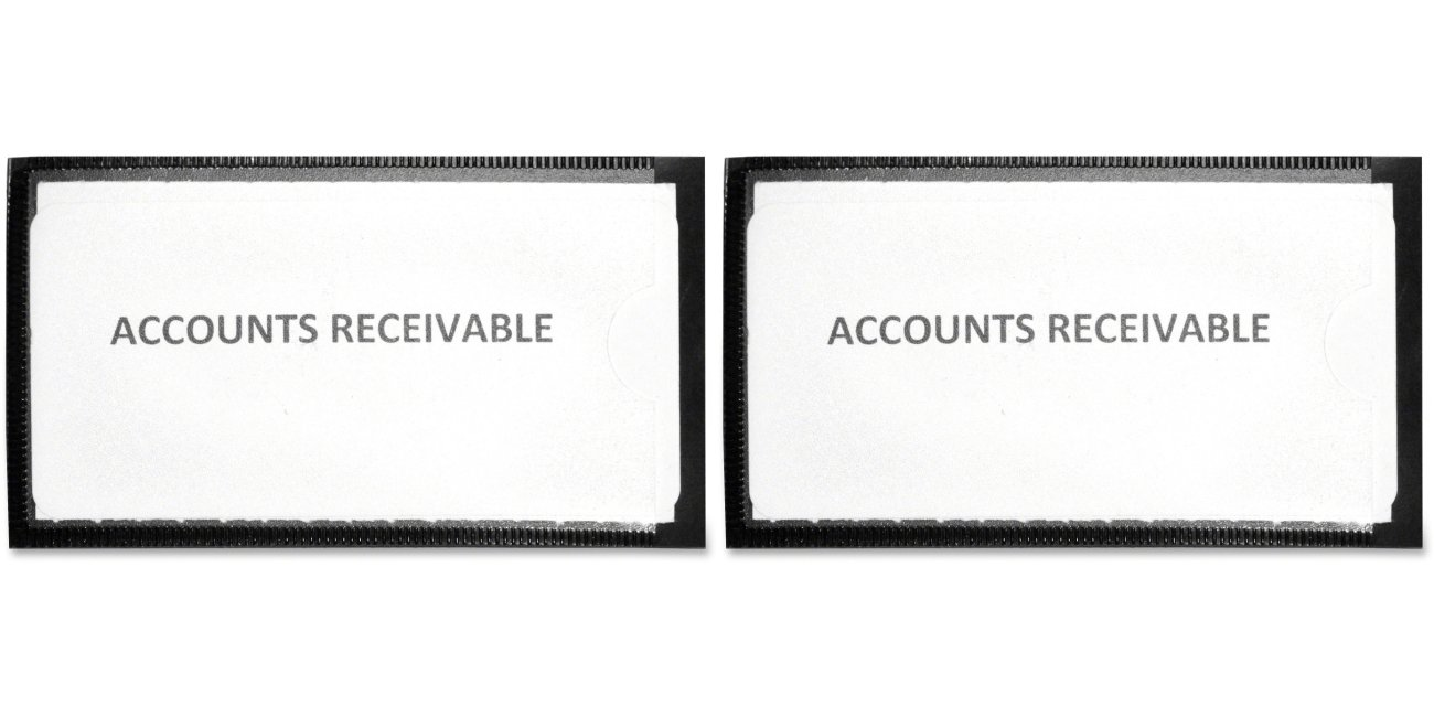 Panter Company MAG-LH-BK Magnetic label holders, 4-1/4 x 2-1/2, black, 10/pack, 2 Packs