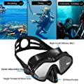 IJYD Snorkel Set, for Adult Youth Snorkeling, Dry Top Snorkel and Frameless Mask Wide View for Free Diving, Low-Volume Goggles Anti-Fog Anti-Leak Comfortable FDA Mouthpiece Easy Breathing