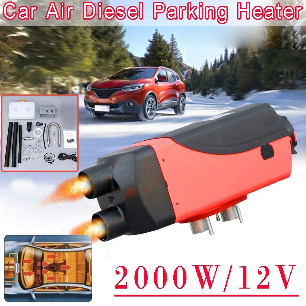 Calentador de aire diesel,12V 2KW Calentador del veh/ículo planar para furgonetas,RV,remolque de autom/óviles,autom/óviles con doble orificio Autom/óviles Camiones Casas rodantes Velocidad de estacionamie