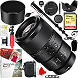 Sony SEL90M28G FE 90mm F2.8 Macro G OSS Full-frame E-mount Macro Lens with 32GB SD Card Plus Accessories Bundle