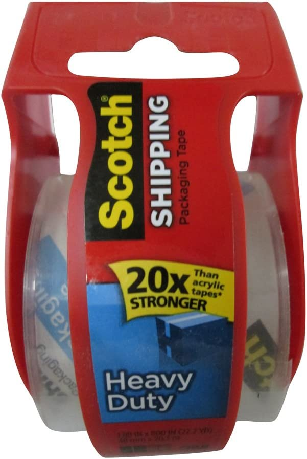 Pack of 3 1 each Scotch Packaging Tape High Performance