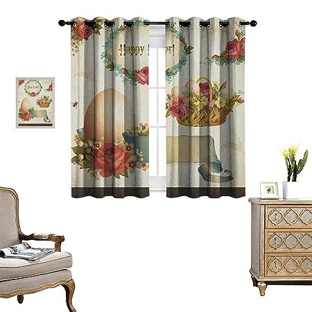 warm family easter room darkening wide curtains romantic flower rh amazon co uk