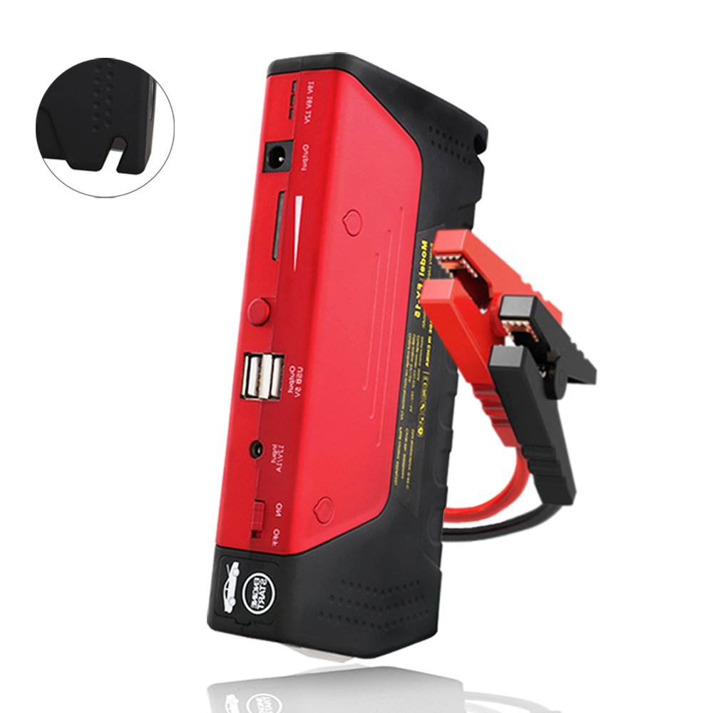 FUSTRONG Car Jump Starter 600A Peak (Up to 6.0L Gas or 4.5L Diesel Engine) Portable Phone Power Bank Auto Battery Charger Pack Booster with Dual Quick Charge Output Built in LED Light & USB