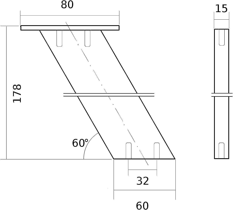 Thekenfu/ß Tresenst/ütze Barst/ütze Alu massiv in Edelstahloptik fein geschliffen SO-TECH/® Barkonsole COUNTER H/öhe 178 mm gerade Design trifft auf Funktion