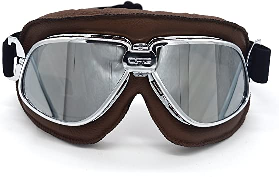 New Retro Vintage Aviator Pilot Motorcycle Cruiser Scooter Biker Sport Goggles