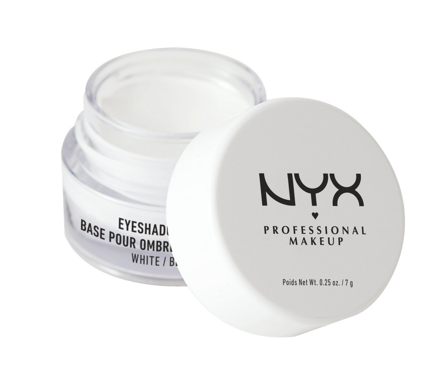 NYX Professional Makeup Eyeshadow Base, White, 0.25 Ounce