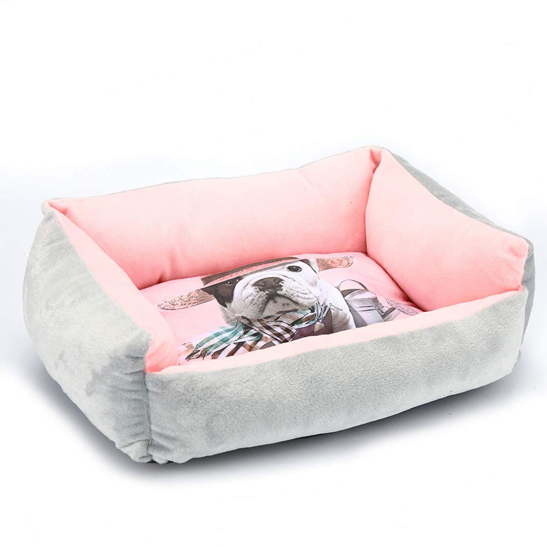 Grey M 50X40CM Grey M 50X40CM Washable Dog Bed Mat Pet Sofa Cotton Kennels Warm Solid Pet Products for Small Large Dogs Cat