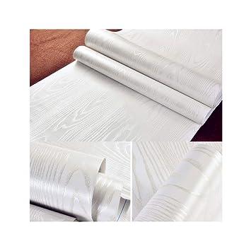 Hode Papier Adhesif Pour Meuble Bois Blanc, 40 Cm × 200 Cm, Sticker Adhésif