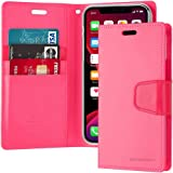 Leather Protection Cover for iPhone 11 Pro Max Wallet with Pockets Stand Case, Fuchsia