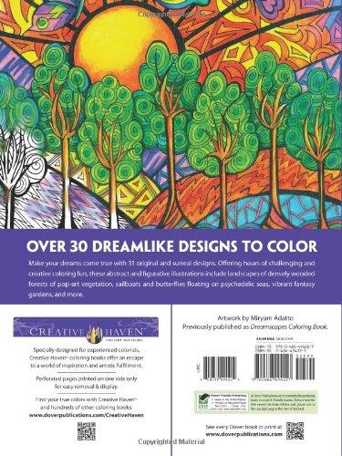 Creative Haven Dreamscapes Coloring Book Books Amazoncouk Miryam Adatto 9780486494227