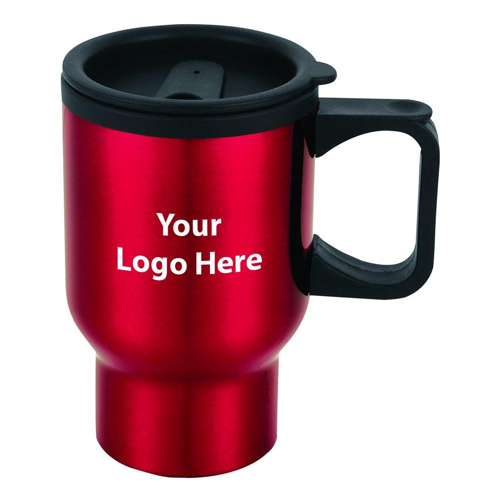 Laguna 16 Oz. Travel Mug - 50 Quantity - $3.90 Each - PROMOTIONAL PRODUCT / BULK / BRANDED with YOUR LOGO / CUSTOMIZED