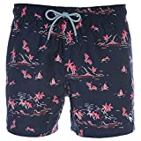 Ted Baker Tempy Swim Short in Navy & Red S