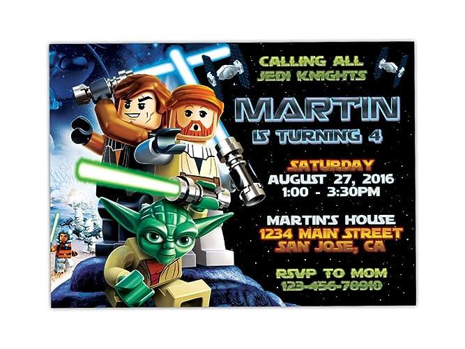 Amazon lego star wars birthday party invitations any age custom lego star wars birthday party invitations any age custom filmwisefo