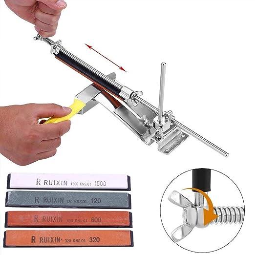 Kit de afilador de cuchillos de /ángulo fijo mejorado Piedras de afilar profesionales de acero inoxidable de metal completo 6